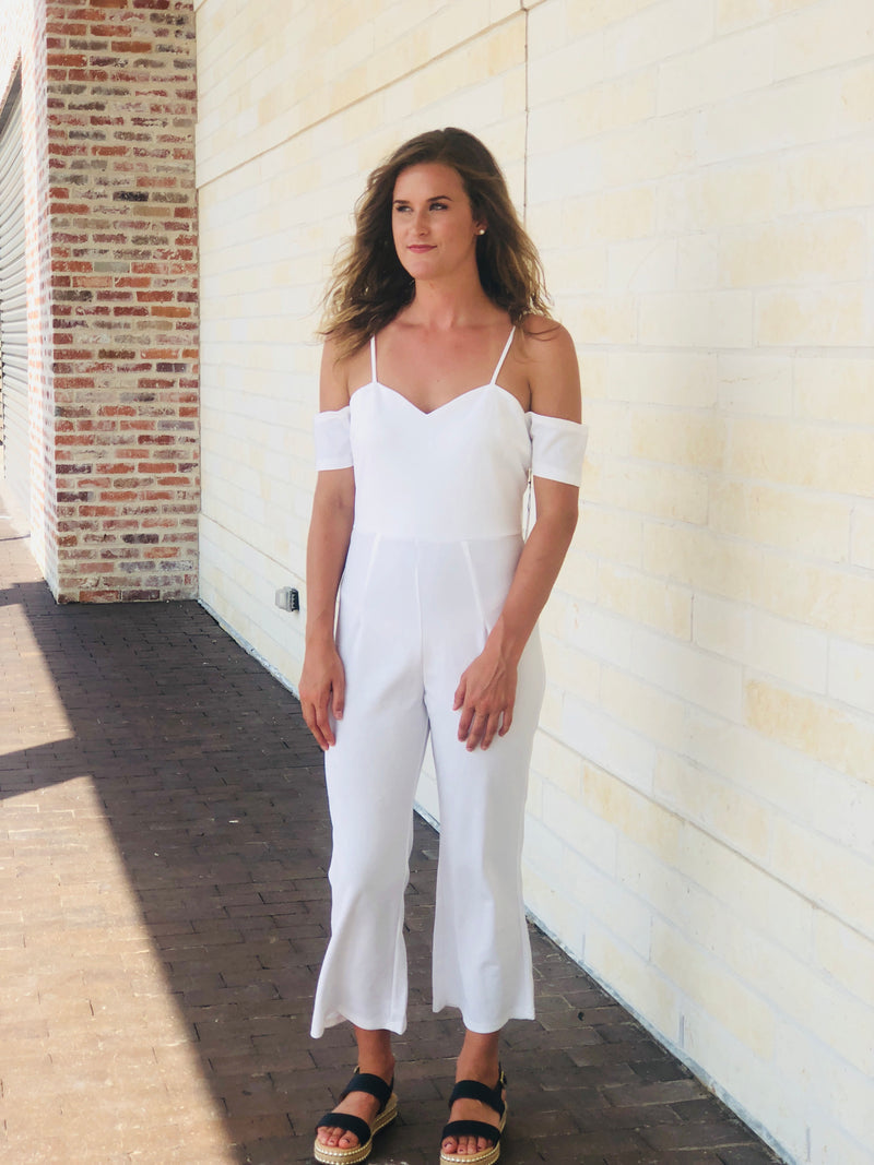 White Flare Jumpsuit