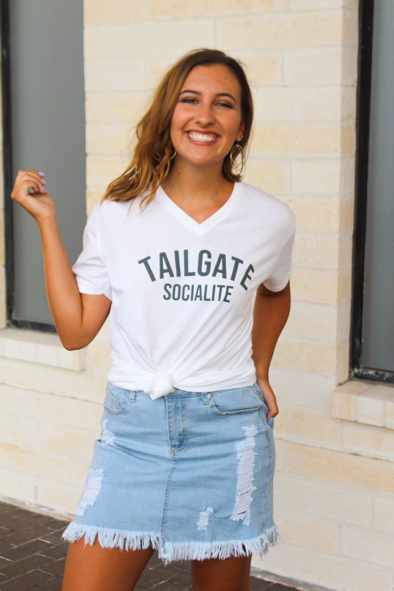 Tailgate Socialite Graphic Top