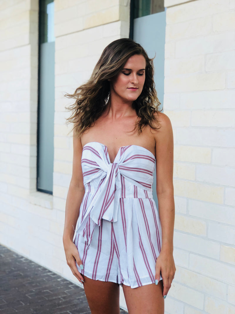 The Sawyer Romper - Pink