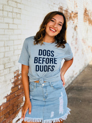 Dogs Before Dudes Graphic Top