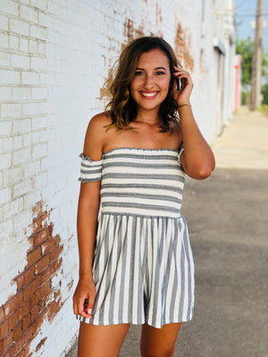 Stripe Smocked Romper