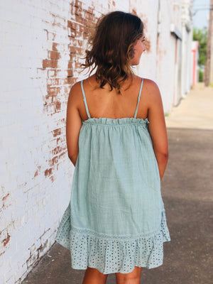 Light Teal Baby Doll Dress