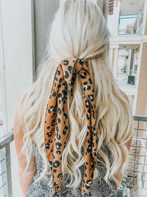 PREORDER Leopard Hair Scarf - Camel