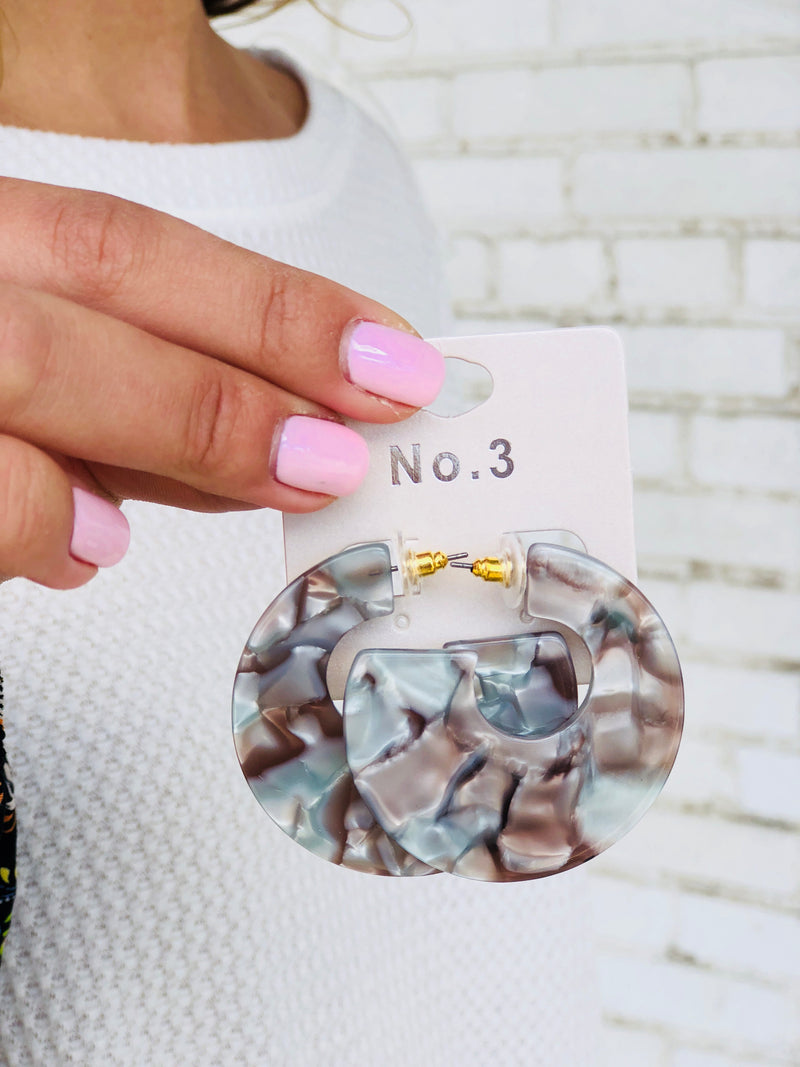 Marble Hoops - Grey Multi