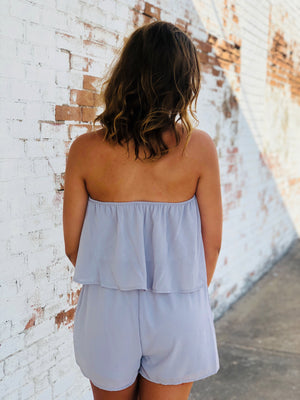 The Faye Romper - Gray