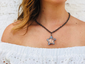 Starry Night Necklace - Gunmetal
