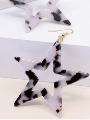 Marble Star Earrings