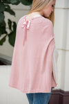 Cape with Satin Tie - Rose