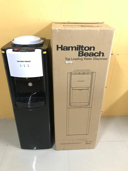 Hamilton Beach TL-5-2 Top Loading Water Dispenser with Storage Cabinet, Hot and Cold Temperatures