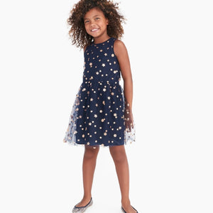 J. Crew Factory Girls' tulle-overlay dress with glitter stars and flowers- Now $10!