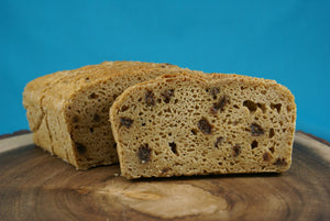 Cinnamon Raisin Sourdough Loaf Sliced