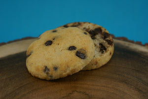 Dark Chocolate Chip Scone Sliced - Vegan