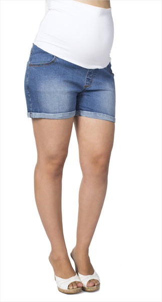 Short maternité jeans