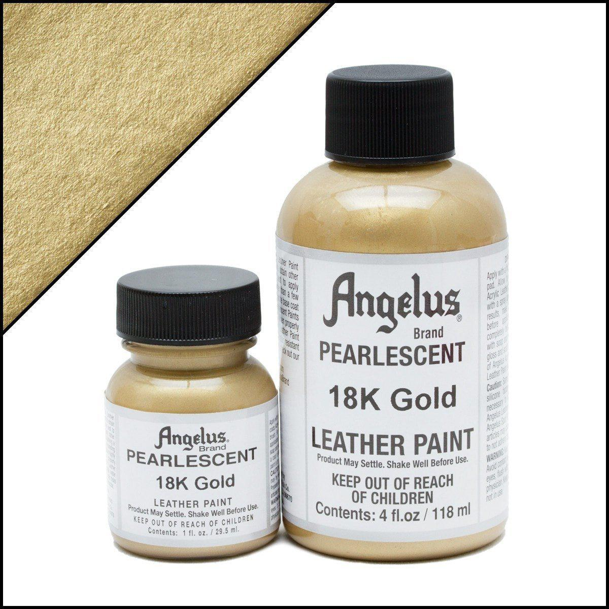 18K Gold Angelus Pearlescent Leather