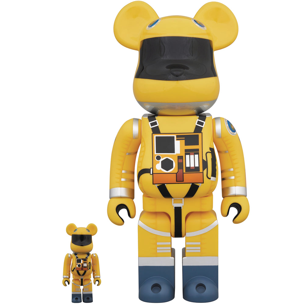 2001 A Space Odyssey 100% + 400% Bearbrick by Medicom Toy