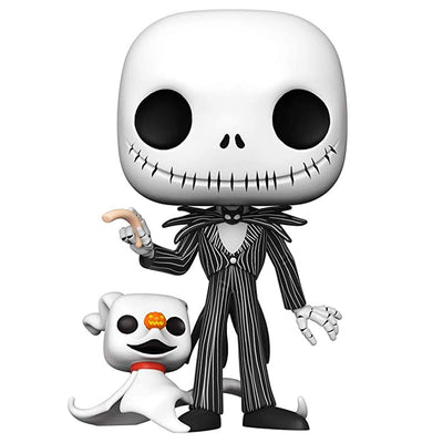 The Nightmare Before Christmas Jack Skellington with Zero 10-Inch Pop #809