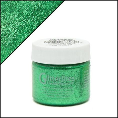 Kelly Green Glitter Angelus Leather Paint