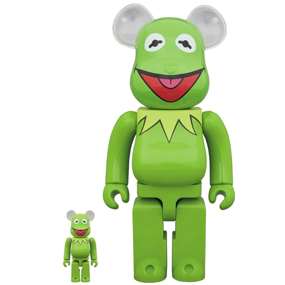 Kermit The Frog Muppets 100% & 400% Bearbrick Set by Medicom Toy