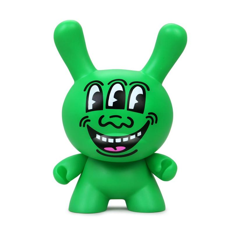 "Keith Haring Masterpiece #1 Three Eyed Face 8"" Dunny by Kidrobot"