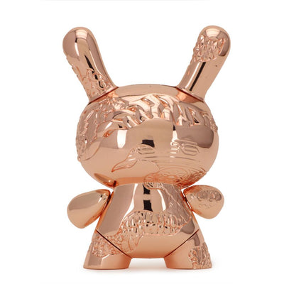"NEW MONEY 5"" METAL DUNNY ART FIGURE BY TRISTAN EATON - ROSE GOLD EDITION"