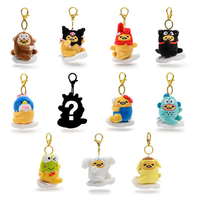 GUDETAMA PLUSH CHARMS BY KIDROBOT X SANRIO