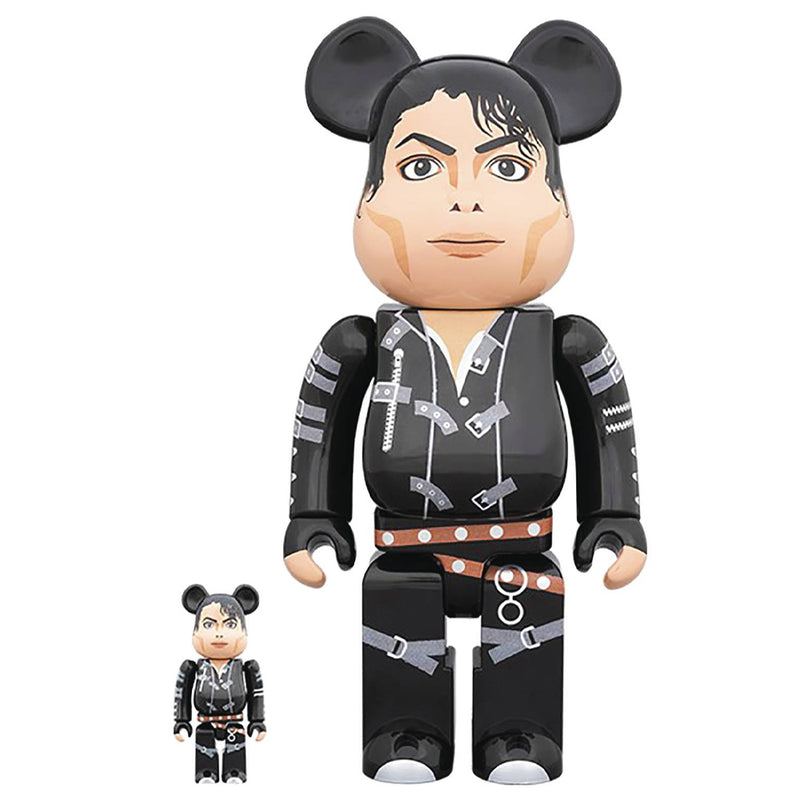 Michael Jackson Bad Version 100% - 400% Bearbrick Set by Medicom Toy