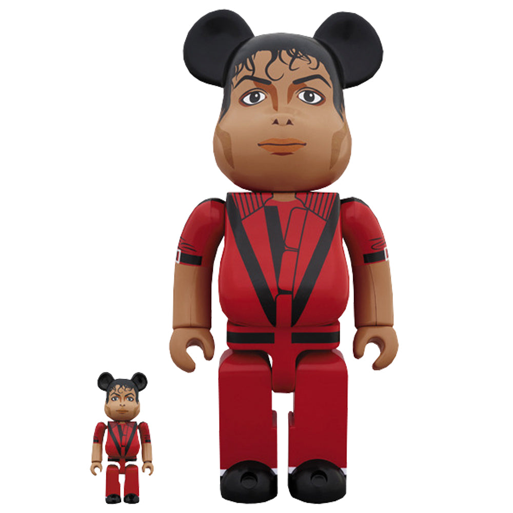 Michael Jackson Thriller Red Jacket 100% - 400% Bearbrick Set by Medicom Toy