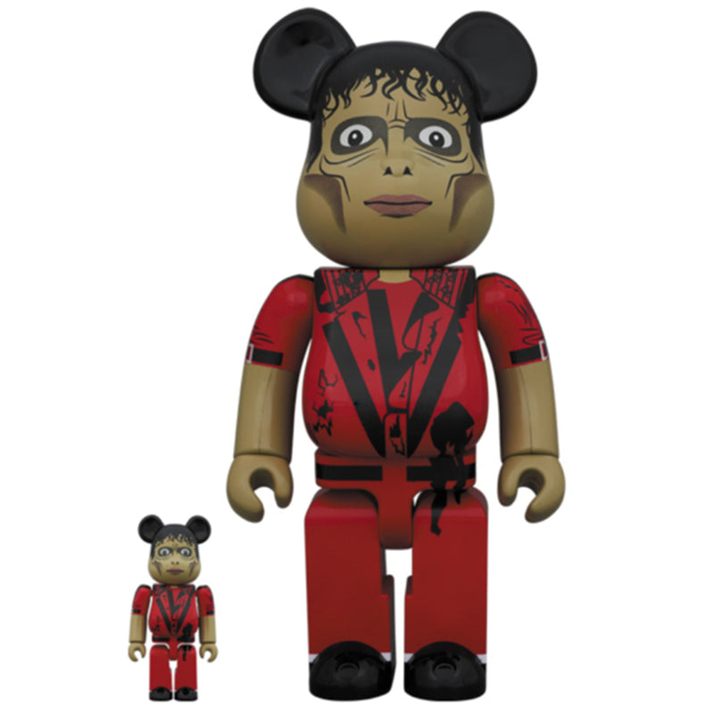Michael Jackson Thriller Zombie 100% - 400% Bearbrick Set by Medicom Toy