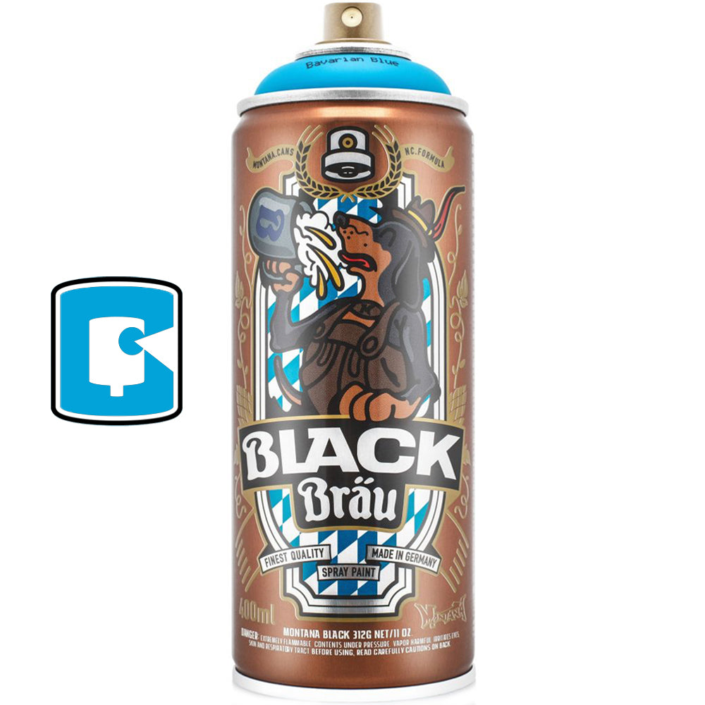 Flying Fortress Montana Black Bavarian Blue Collectors Spray paint