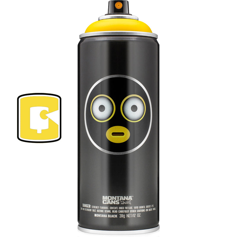 EmojiVandal Montana Black Collectors Yellow Spray Paint