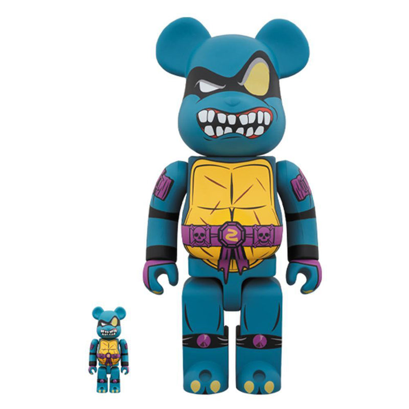 TMNT Slash 100% + 400% Bearbrick By Medicom Toy
