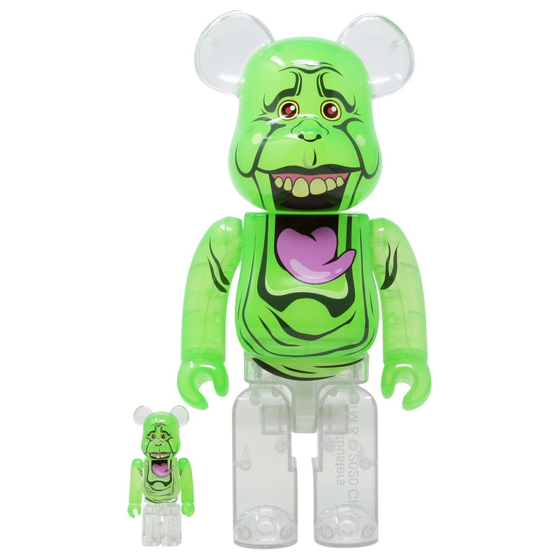Slimer Ghostbusters 100% + 400% Bearbrick By Medicom Toy