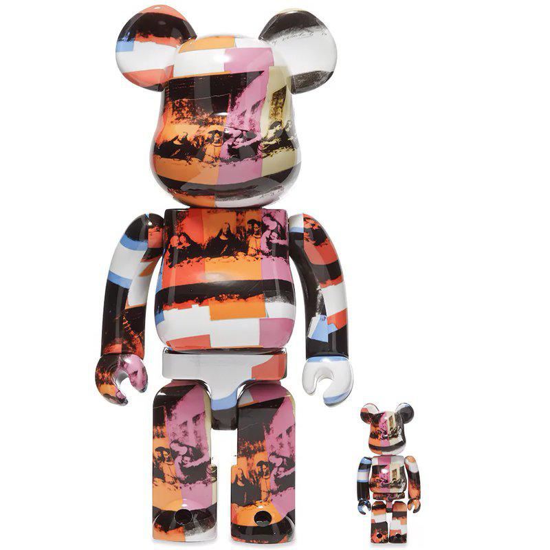 The Last Supper Andy Warhol 100% - 400% Bearbrick Set by Medicom Toy