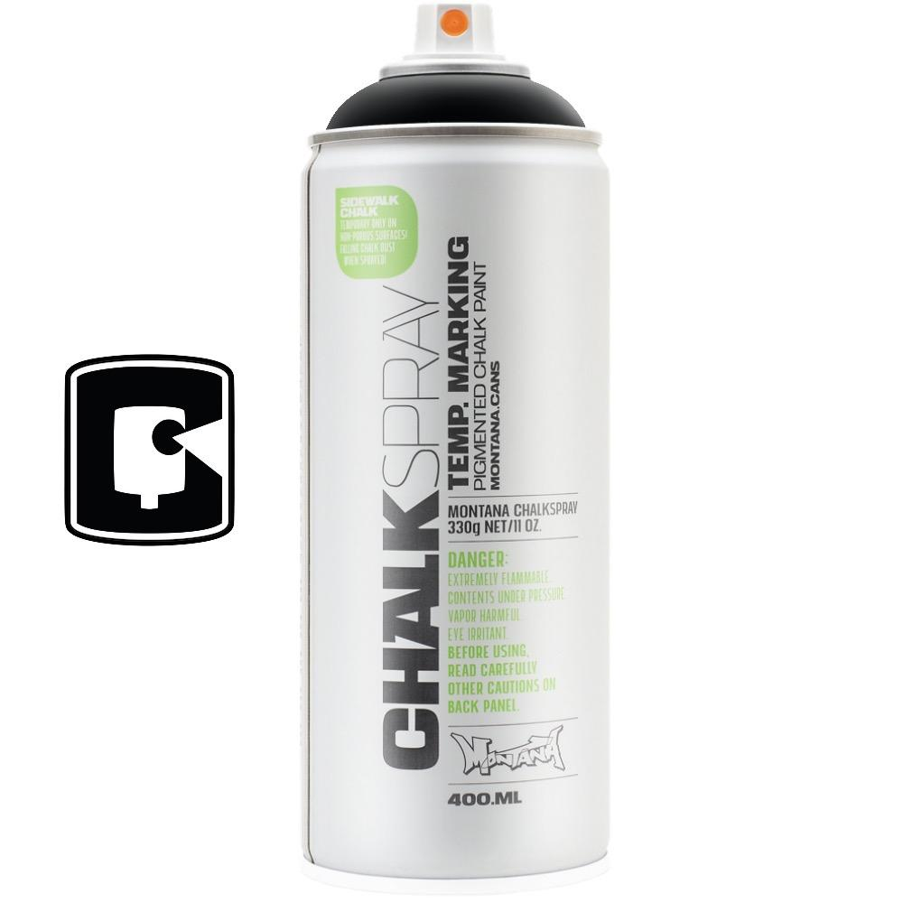 Black-Montana Chalk-400ML Spray Paint-TorontoCollective