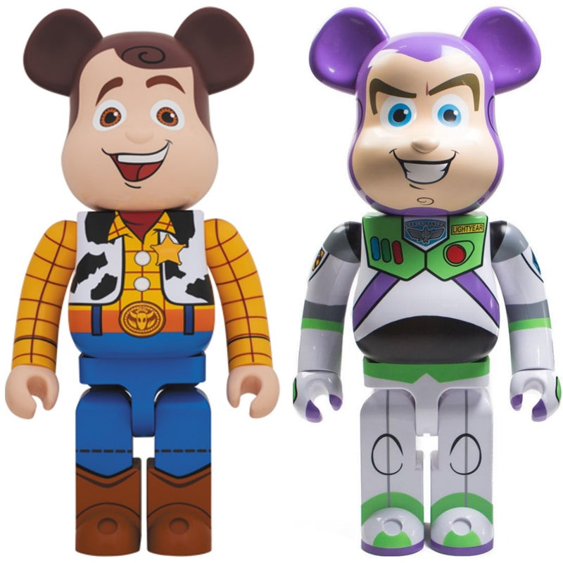 Woody & Buzz Lightyear Toy Story 3 1000% Bearbrick by Medicom Toy