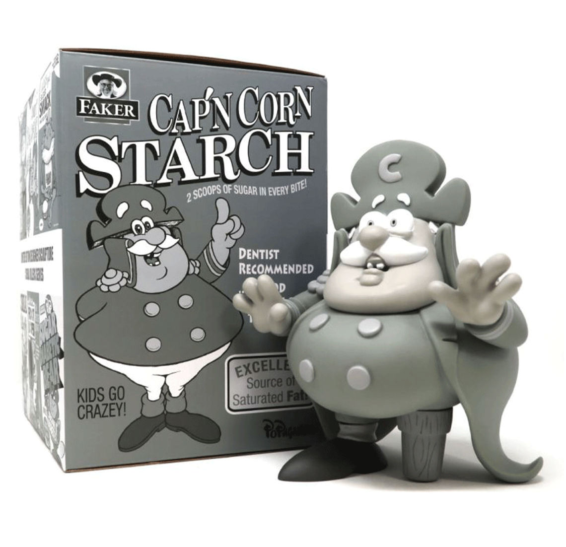 Cap'n Corn Starch Monotone Edition by Ron English