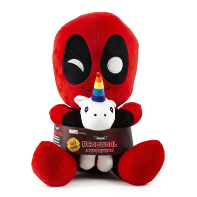 Deadpool Riding a Unicorn Hug Me Vibrating Plush-Kidrobot-Plush-TorontoCollective