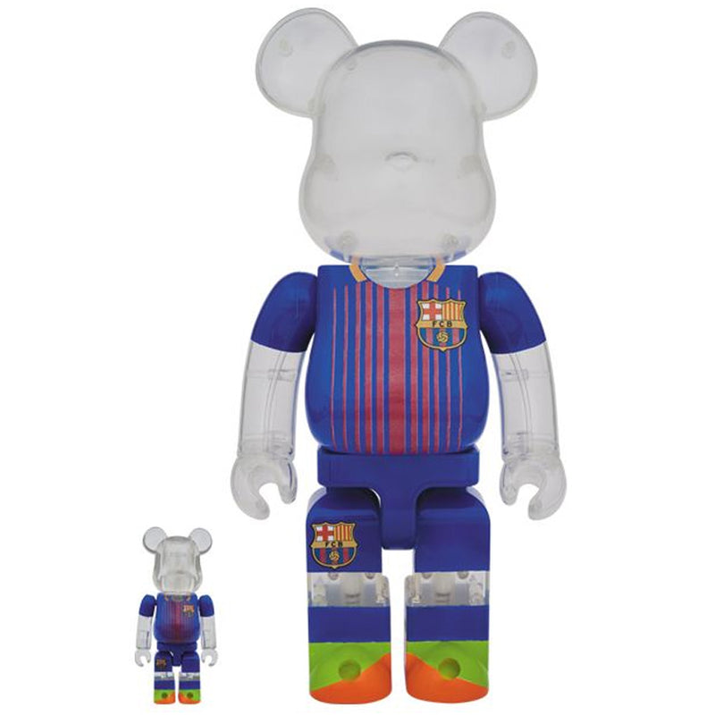 FC Barcelona 100% + 400% Bearbrick Set by Medicom Toy