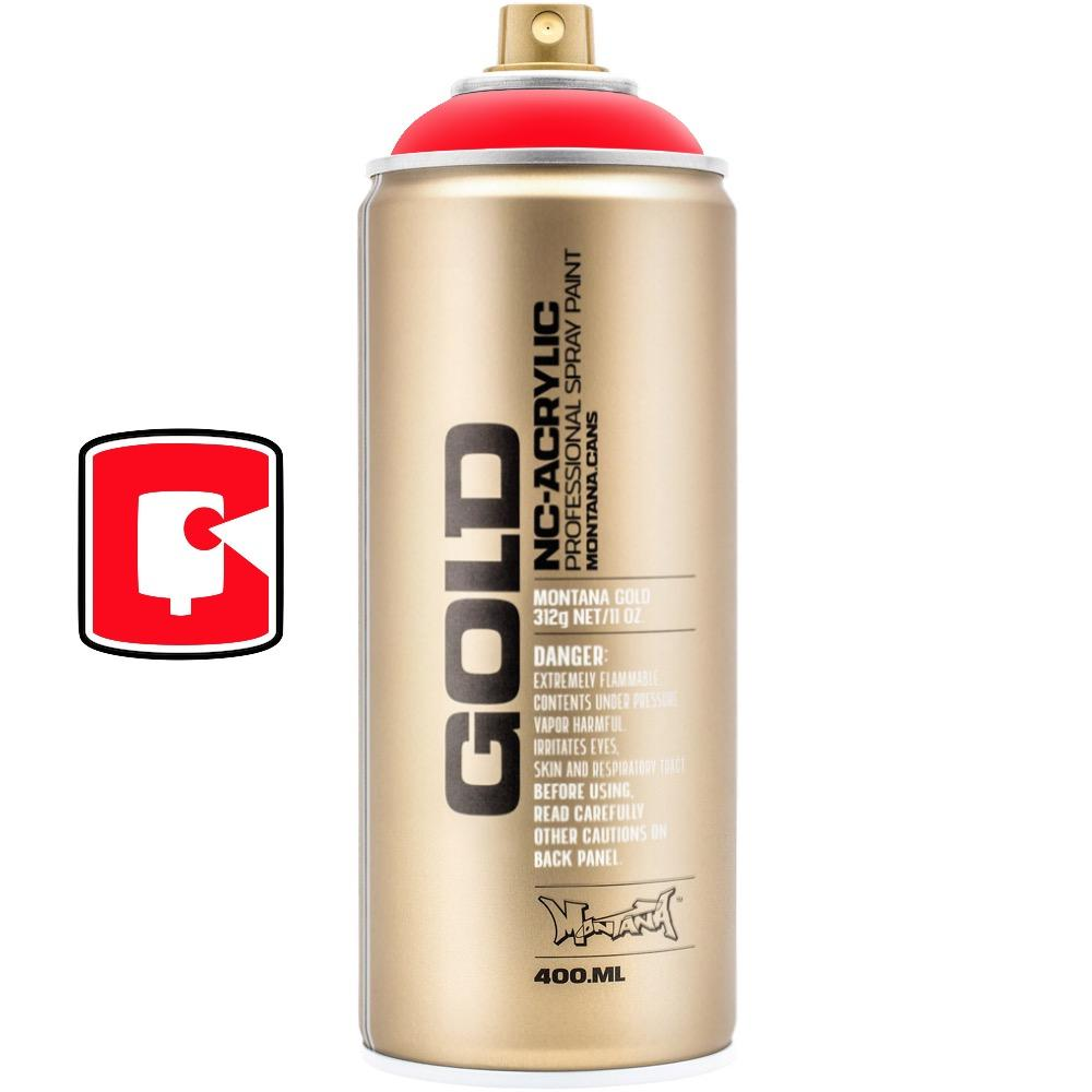 Fire Red-Montana Gold Fluorescents-400ML Spray Paint-TorontoCollective