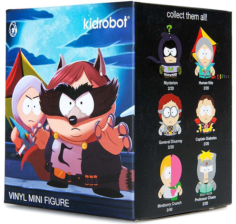 Kidrobot SOUTH PARK THE FRACTURED BUT WHOLE Series CAPTAIN DIABETES Vinyl Figure