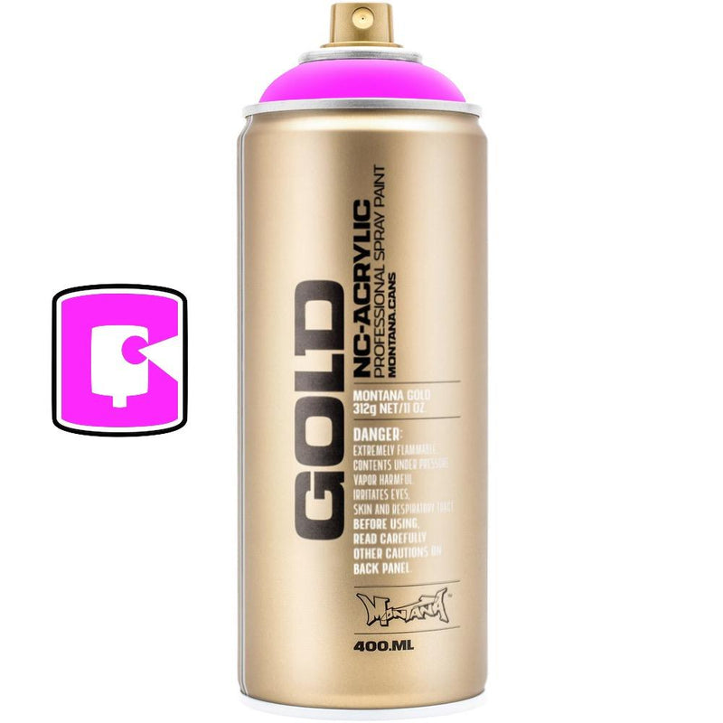 Gleaming Pink-Montana Gold Fluorescents-400ML Spray Paint-TorontoCollective