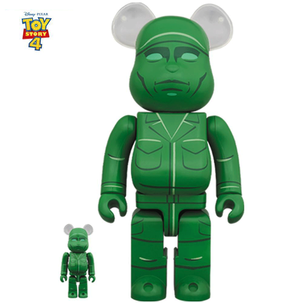 Green Army Man Toy Story 100% - 400% Bearbrick Set by Medicom Toy