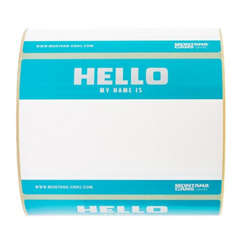 Hello My Name is Sticker Roll-Montana-Stickers-TorontoCollective