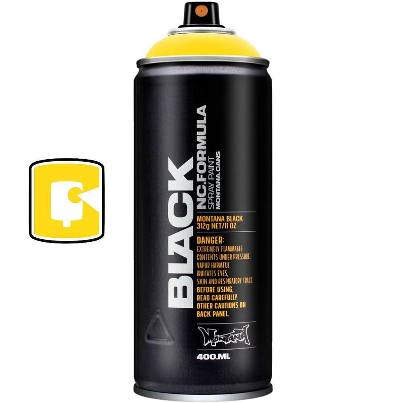 Kicking Yellow-Montana Black-400ML Spray Paint-TorontoCollective