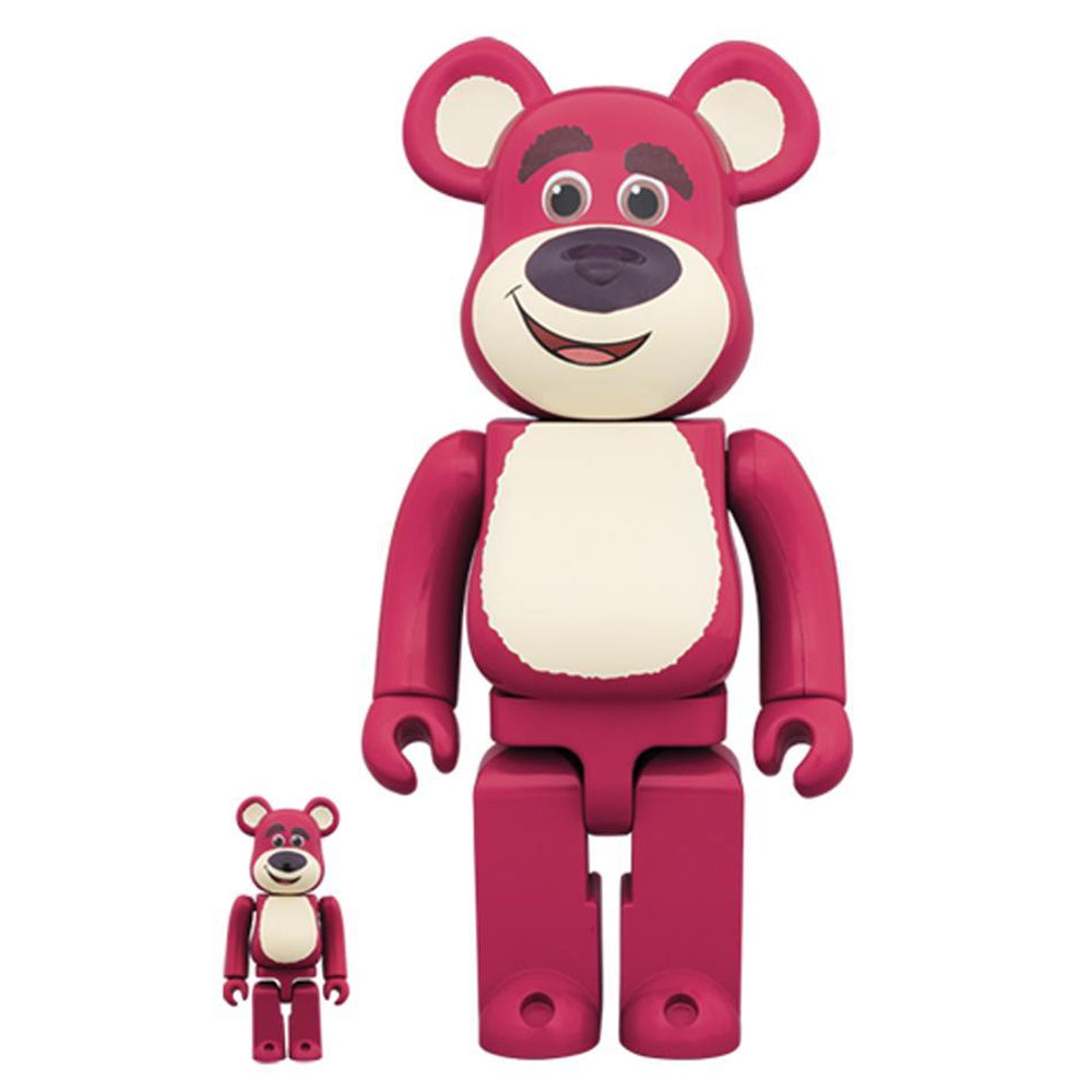 Lotso Bear Toy Story 100% - 400% Bearbrick Set by Medicom Toy