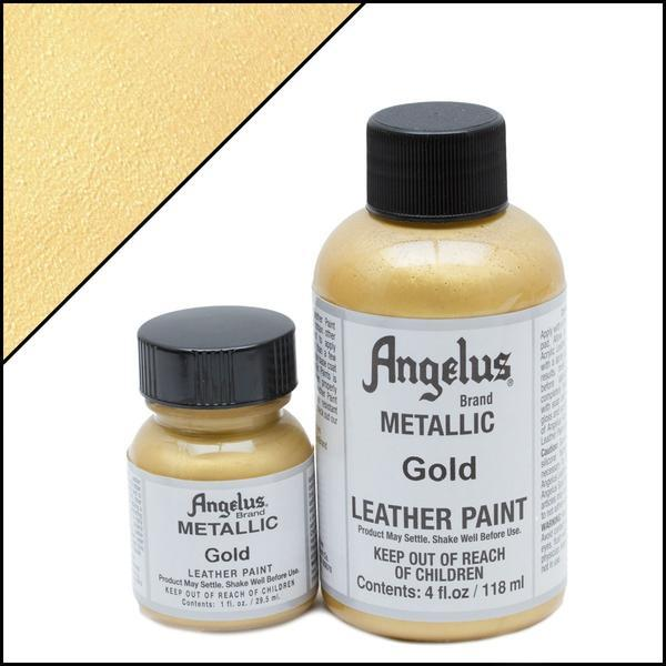 Metallic Gold Angelus Leather Paint TorontoCollective