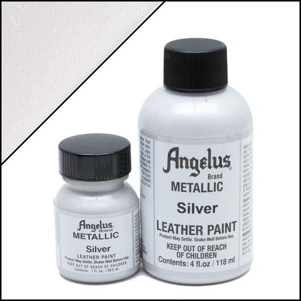 Metallic Silver-Angelus-Leather Paint-TorontoCollective