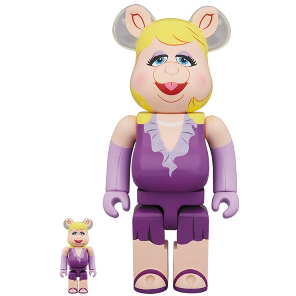 The Muppets Miss Piggy 100% & 400% Bearbrick Set by Medicom Toy