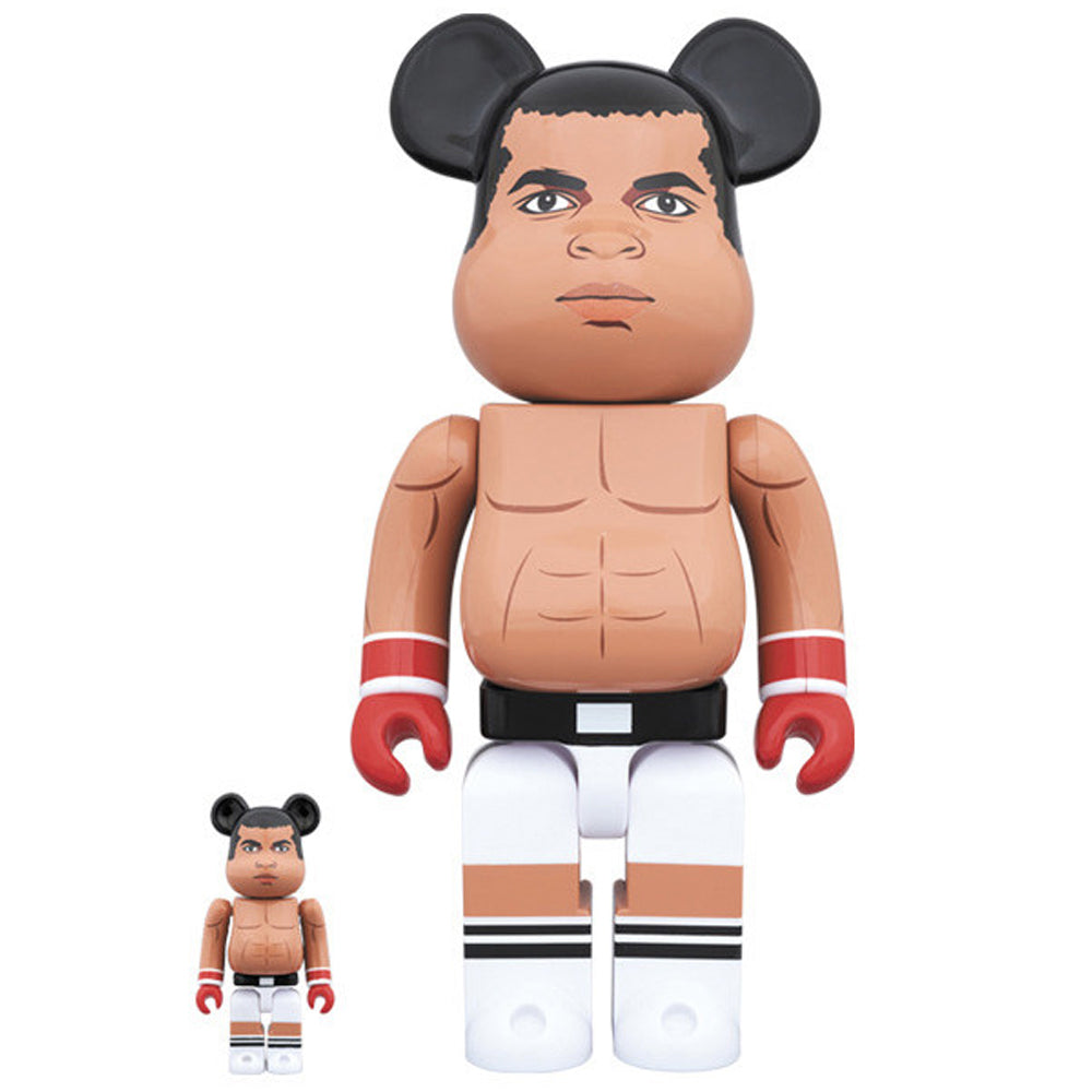 Muhammad Ali 100% - 400% Bearbrick Set by Medicom Toy