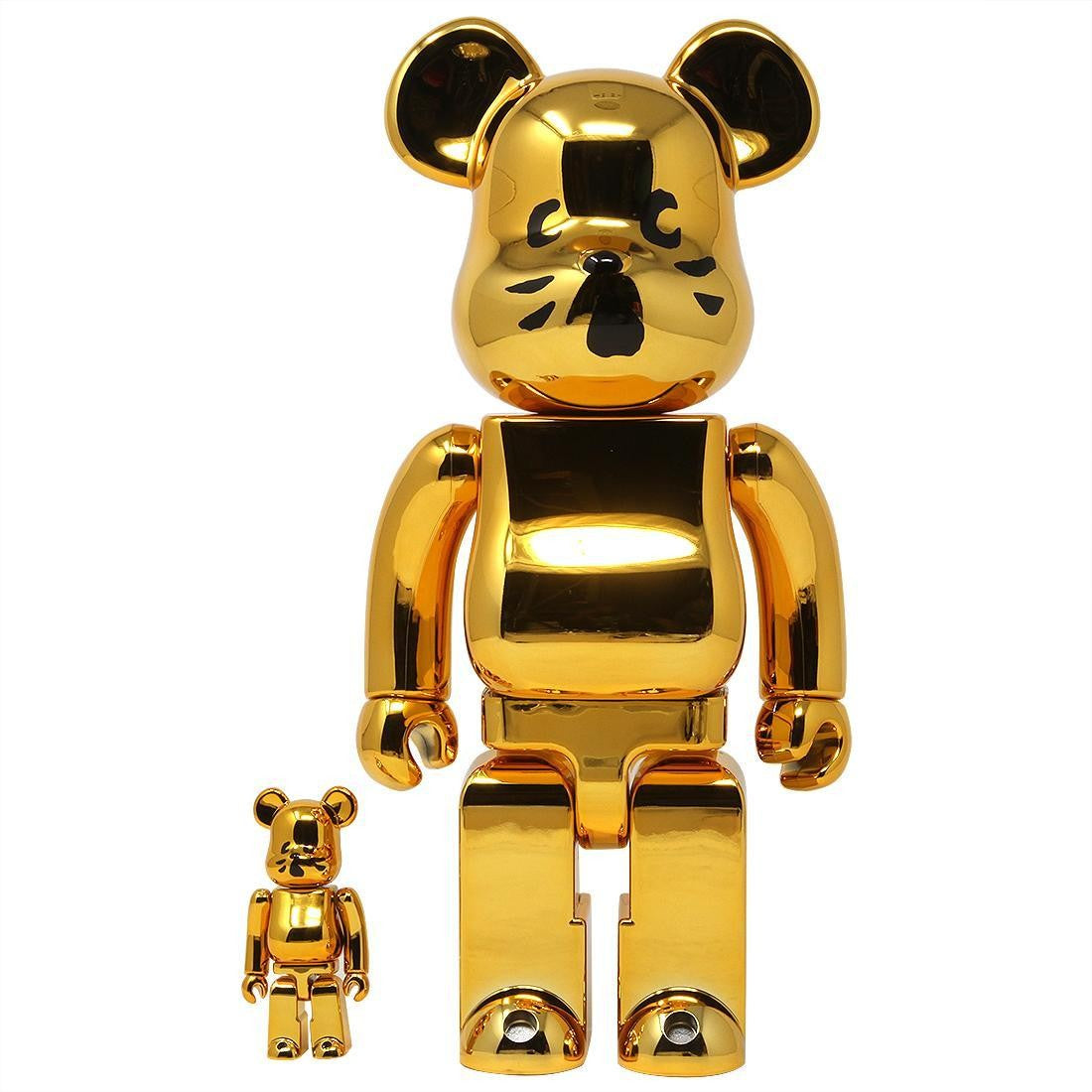 Nya Cat Gold 100% & 400% BEARBRICK SET by Medicom Toy